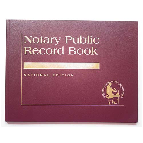 Missouri Contemporary Notary Public Record Book - (with thumbprint space)