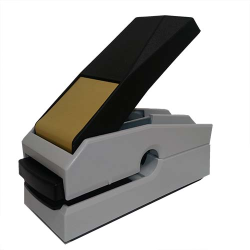 This award-winning, Canadian-made seal embosser is designed to create a lasting raised notary impression on any kind of paper with ease and comes with a life-time replacement guarantee. This Missouri notary seal embosser is designed to allow embossing anywhere on a document where a standard embosser cannot reach. Creates notary seal impressions of 1-5/8 inches.
