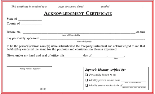 Missouri Notarial Certificate Pads