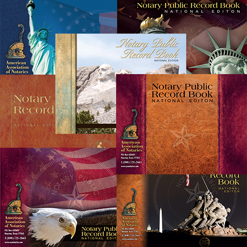 Missouri Notary Public Record Book - (352 entries with thumbprint space)
