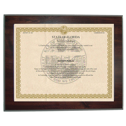 Missouri Notary Commission Certificate Frame