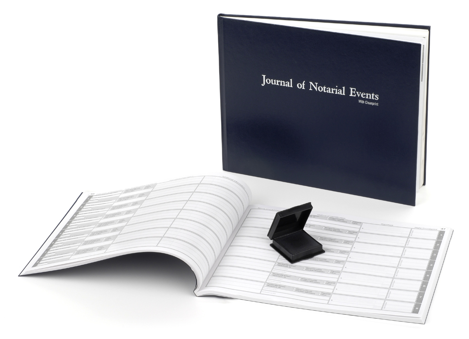 Missouri Hard Cover Notary Journal with Inkless Thumbprint Pad